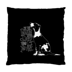Dog person Standard Cushion Case (Two Sides)