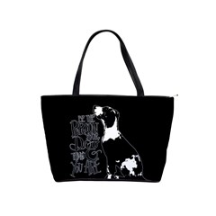 Dog person Shoulder Handbags