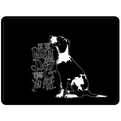 Dog person Fleece Blanket (Large)