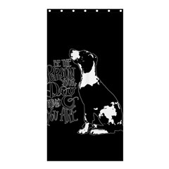 Dog person Shower Curtain 36  x 72  (Stall)
