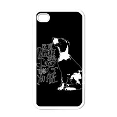 Dog person Apple iPhone 4 Case (White)