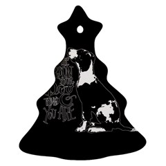 Dog person Christmas Tree Ornament (Two Sides)