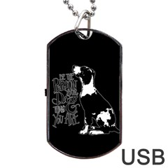 Dog person Dog Tag USB Flash (Two Sides)