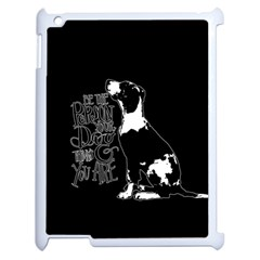 Dog person Apple iPad 2 Case (White)