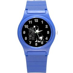 Dog person Round Plastic Sport Watch (S)