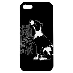 Dog person Apple iPhone 5 Hardshell Case