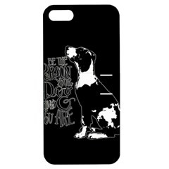 Dog person Apple iPhone 5 Hardshell Case with Stand