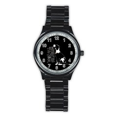 Dog person Stainless Steel Round Watch