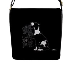 Dog person Flap Messenger Bag (L)