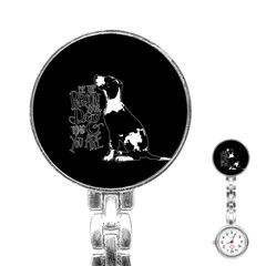 Dog person Stainless Steel Nurses Watch