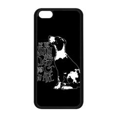 Dog person Apple iPhone 5C Seamless Case (Black)