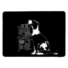 Dog person Samsung Galaxy Tab Pro 12.2  Flip Case