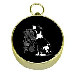 Dog person Gold Compasses
