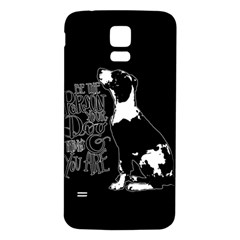 Dog person Samsung Galaxy S5 Back Case (White)