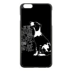 Dog person Apple iPhone 6 Plus/6S Plus Black Enamel Case