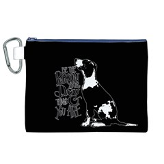 Dog person Canvas Cosmetic Bag (XL)