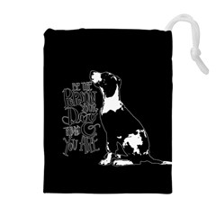 Dog person Drawstring Pouches (Extra Large)