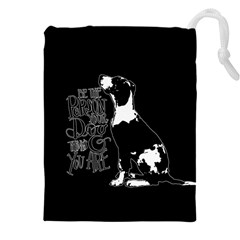 Dog person Drawstring Pouches (XXL)