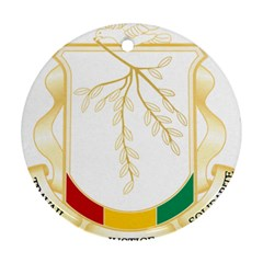 Coat of Arms of Republic of Guinea  Ornament (Round)