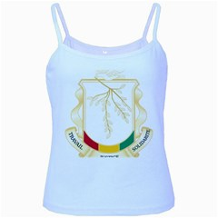 Coat of Arms of Republic of Guinea  Baby Blue Spaghetti Tank