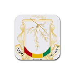 Coat of Arms of Republic of Guinea  Rubber Square Coaster (4 pack)