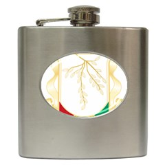 Coat of Arms of Republic of Guinea  Hip Flask (6 oz)