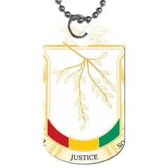 Coat of Arms of Republic of Guinea  Dog Tag (Two Sides)