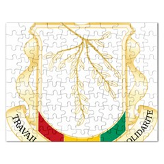 Coat of Arms of Republic of Guinea  Rectangular Jigsaw Puzzl