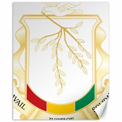 Coat of Arms of Republic of Guinea  Canvas 16  x 20