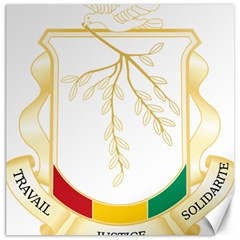 Coat of Arms of Republic of Guinea  Canvas 20  x 20