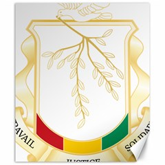 Coat of Arms of Republic of Guinea  Canvas 20  x 24