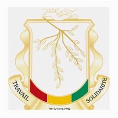 Coat of Arms of Republic of Guinea  Medium Glasses Cloth