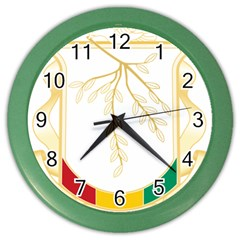 Coat of Arms of Republic of Guinea  Color Wall Clocks