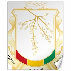 Coat of Arms of Republic of Guinea  Canvas 11  x 14
