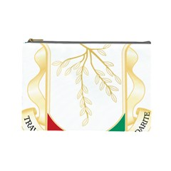 Coat of Arms of Republic of Guinea  Cosmetic Bag (Large)
