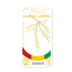 Coat of Arms of Republic of Guinea  Apple iPhone 4 Case (White)