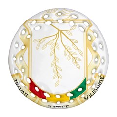Coat of Arms of Republic of Guinea  Round Filigree Ornament (Two Sides)