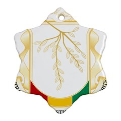 Coat of Arms of Republic of Guinea  Snowflake Ornament (Two Sides)