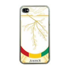 Coat of Arms of Republic of Guinea  Apple iPhone 4 Case (Clear)