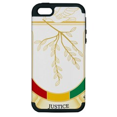 Coat of Arms of Republic of Guinea  Apple iPhone 5 Hardshell Case (PC+Silicone)