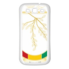 Coat of Arms of Republic of Guinea  Samsung Galaxy S3 Back Case (White)