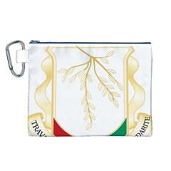 Coat of Arms of Republic of Guinea  Canvas Cosmetic Bag (L)