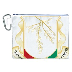 Coat of Arms of Republic of Guinea  Canvas Cosmetic Bag (XXL)