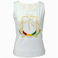 Coat of Arms of Republic of Guinea  Women s White Tank Top