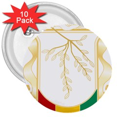 Coat of Arms of Republic of Guinea  3  Buttons (10 pack)