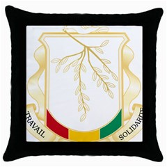Coat of Arms of Republic of Guinea  Throw Pillow Case (Black)