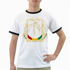 Coat of Arms of Republic of Guinea  Ringer T-Shirts