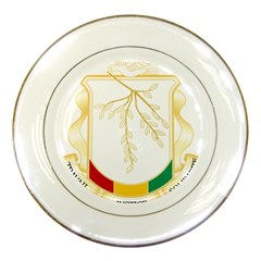 Coat of Arms of Republic of Guinea  Porcelain Plates