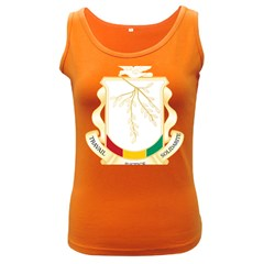 Coat of Arms of Republic of Guinea  Women s Dark Tank Top