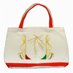 Coat of Arms of Republic of Guinea  Classic Tote Bag (Red)
